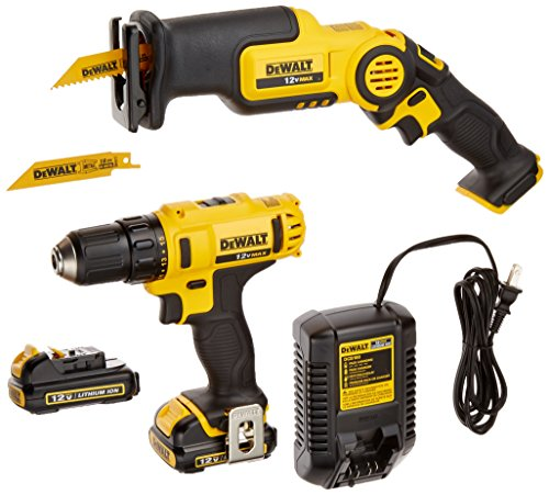 (DEWALT DCK212S2 12-Volt MAX Drill Driver and Reciprocating Saw Kit)