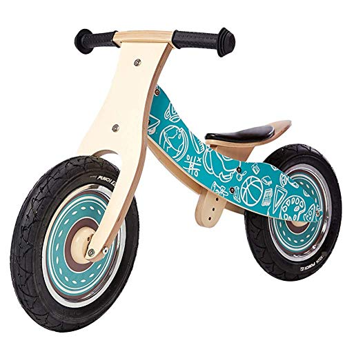 ZLMI Children's Balance car,no Pedal Wooden Balance Bike Baby with Pedal Tricycle Safe and Comfortable 2-6 Toddler Puzzle Stroller,Blue