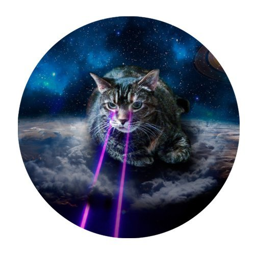 Galaxy Hipster Cat Mouse Pad - Gamer Gaming Mouse - Gamer Hipster