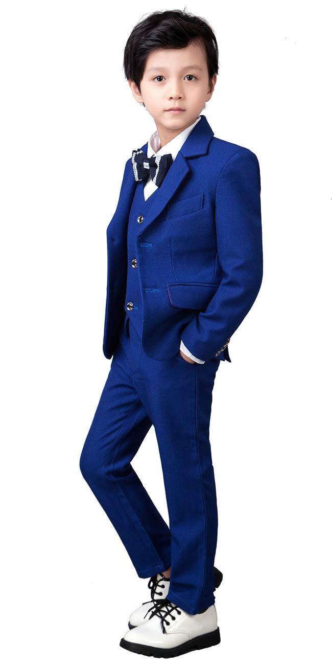 YuanLu Boys Suits Set 5 Piece Size 2T Blue Slim Fit Royal Blue Boy Suit