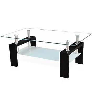 Corium Couchtisch Wohnzimmertisch 100 X 50 X 45 Cm Glassplatte Tisch