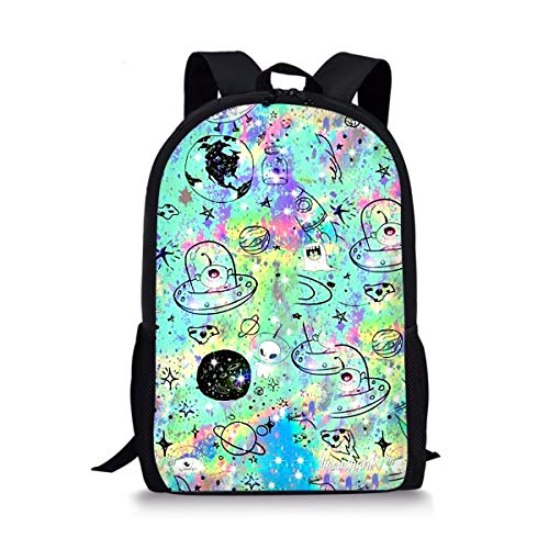 - GePrint Fashion Kids Backpack Universe Patterned Schoolbag Book bag for Girls Boys Travel Casual Daypacks for Children