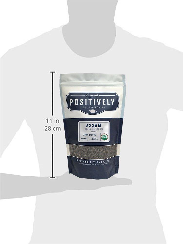 Positively Tea Company, Organic Assam TGFOP, Black Tea, Loose Leaf, USDA  Organic, 1