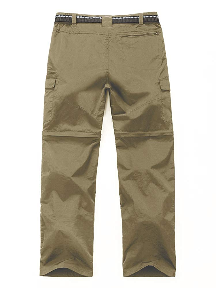 Outdoor Hiking Convertible Pants Mens Quick Dry Water Resistant Cargo Pockets Breathable Lightweight m885