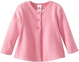 Zutano Baby Girls\' Cozie Fleece Swing Jacket, Hot Pink, 12 Months