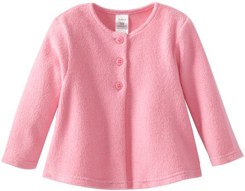 Zutano Baby Girls' Cozie Fleece Swing Jacket, Hot Pink, 24 Months