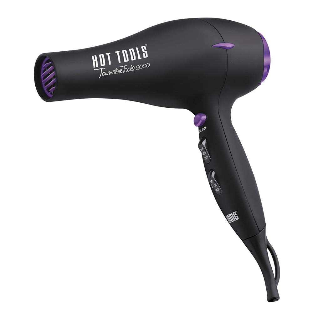 Tourmaline Tools Lite 1043 by Hot Tools Professional 1875 Watt Tourmaline Ionic Professional Hair Dryer 1023