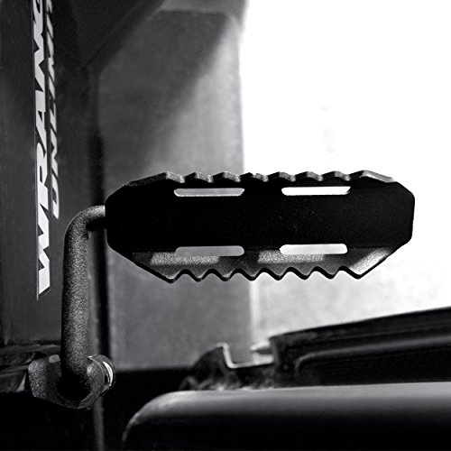 AMERICAN MODIFIED Jeep Wrangler Foot Pegs Sawtooth Jeep Wrangler Accessories JK JKU & Unlimited Rubicon Sahara Sports,2007-2018,Steel by AMERICAN MODIFIED (Image #3)