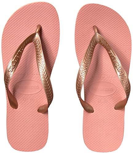 Havaianas Women's Top Tiras Flip Flop Sandal,Rose Nude, 35/36 BR(5-6 M US - Dress Womens Brazil