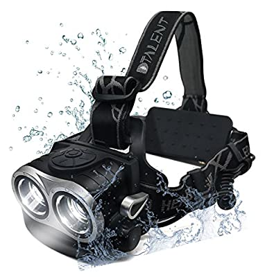 Owl LED Headlight Waterproof 5 Modes Dimmable Headlamp USB Rechargeable 6000 Lumens for Running Reading Camping Riding Fishing Outdoor Flashlight