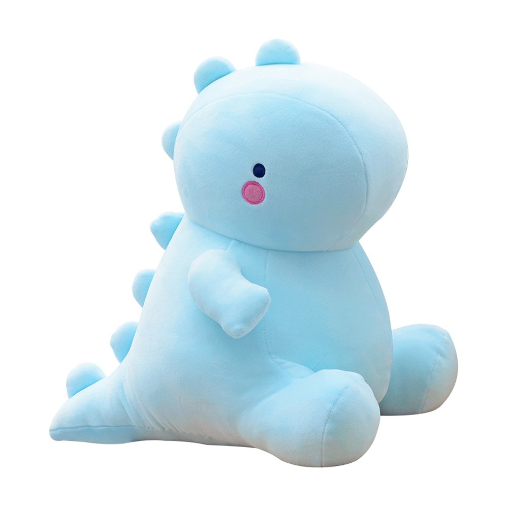 Blue Cute Charming Cartoon Fashion Funny Pretty Dinosaur Stuffed Animals Shape Big Hugging Pillow Soft 3D Pom Plush Toy Doll Ultra Fabric Bed Rest Chair Bolster Nursery Decoration Gift for Kids