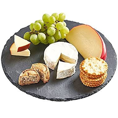 VonShef Revolving Slate Lazy Susan Cheese/ Tapas Board
