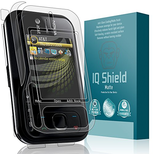 IQ Shield Matte Full Coverage Anti-Glare Full Body Skin + Screen Protector for Nokia 6790 Surge Anti-Bubble Film