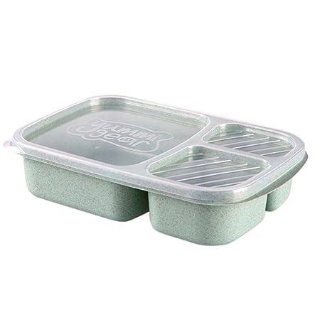 Contenedores de preparación de comida con 3 compartimentos con ...