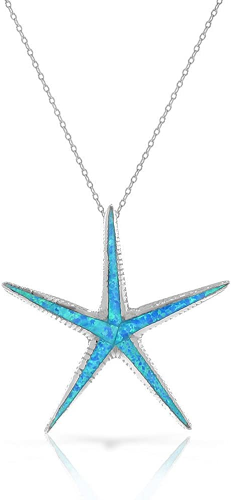 Türkiser Seestern Anhänger mit Halskette gold Naturstein Perlen Halbedelsteine