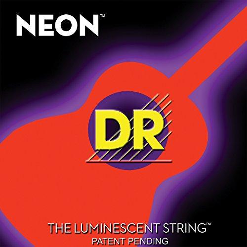 DR Strings NOA-11 NEON Hi-Def Phosphorescent Orange Acoustic Strings Medium-Light