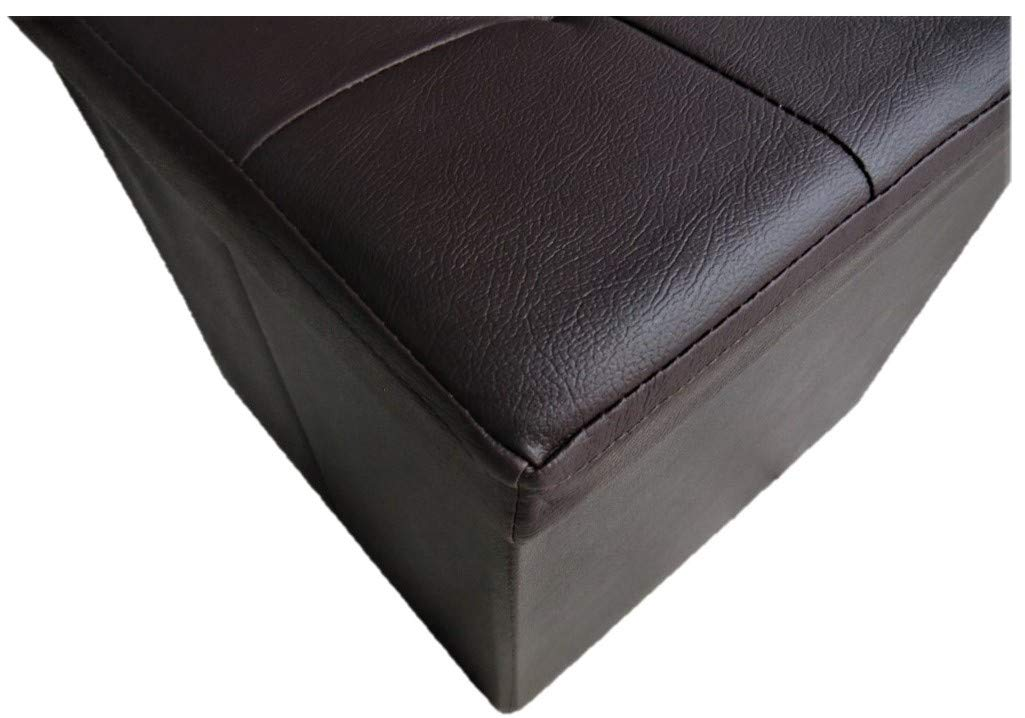 Beige Passion Pouf Deluxe Sofa Contenitore in Pelle Sintetica 38X38 CM