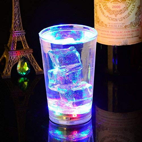 Club 340 Halloween (1 Water Activated Glass Flashing LED Multi Coloured Tumblers LED Flashing 340ml 120z Boxed Glass Tumbler Novelty Plastic Light up Re-usable Funky Novelty Cocktail)