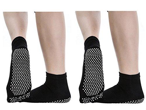Dokpav Pilates Yoga Socks Pack of 4 Womens Non Slip Non Skid Fitness//Dance Barre//Ballet//Maternity Grip Socks with Gripper Cotton