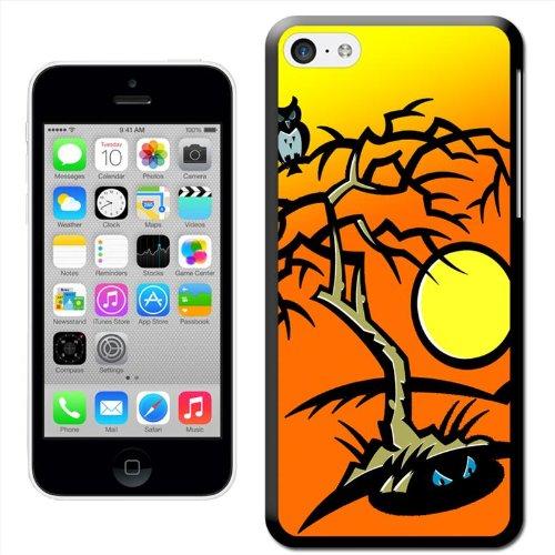 Fancy A Snuggle Coque motif forêt 'Evil musicale qui hurle Halloween Halloween Coque arrière rigide à clipser pour Apple iPhone 5C