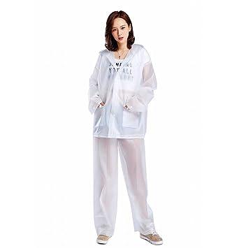 AiYoYo Lluvia Pantalones y Rain Coat con Traje Impermeable ...