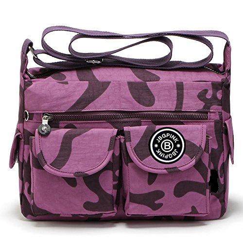 - Nylon Crossbody Handbags Casual Shoulder Bags for Women Leisure Lightweight Messenger Bag Shoulder Bag with Lots of Pockets (Camouflage)