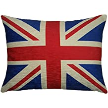 FILLED EVANS LICHFIELD UNION JACK RED BLUE MADE IN UK FLAG PILLOW CUSHION 43 X 33CM
