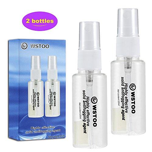 WSTOO Efficient solid Antifog Spray for Diving Masks/Swim Goggles/Ski mirror /mirror 2 Bottles