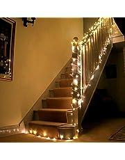 Uping Catena Luminosa Stringa di Luci LED per Festa Giardino Natale Halloween Matrimonio(Bianca Calda)