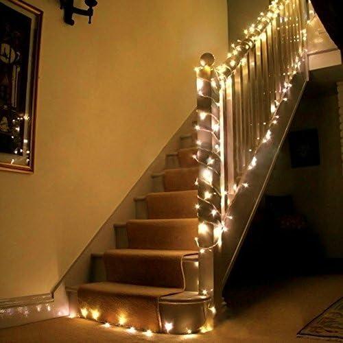 Uping Strisce LED, Luce Calda Bianca,22 Metri, Impermeabile, 200 Singoli LED, Decorativa da Interni e Esterni, Anche per Festa, Giardino, Natale, Halloween, Matrimonio