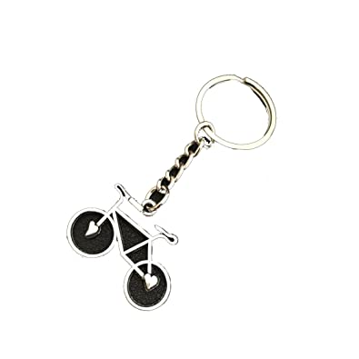 Amazon.com  Fashion Silver Plated Bike Keychain Love Bike Heart Key ... aac519c7d9