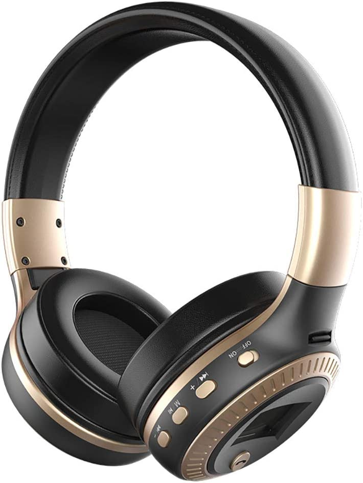 Over Ear Bluetooth Headphones, Bluetooth Headphones Wireless with Screen, Noise Cancelling and Enhanced Bass, Built-in Microphone TF Card Slot and FM Radio