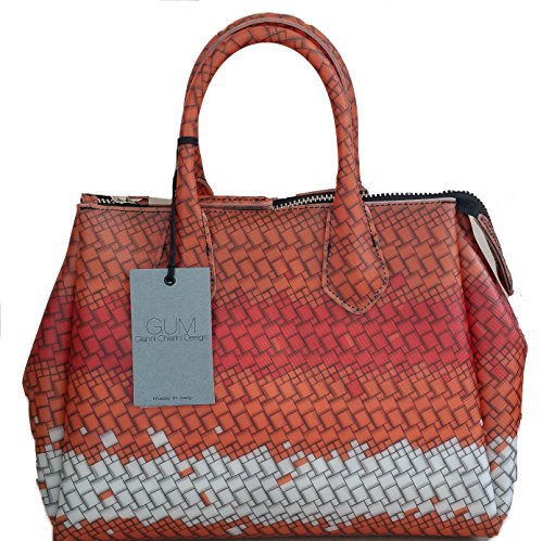 Gum Gianni Chiarini , Sac à main pour femme Orange Fantasia