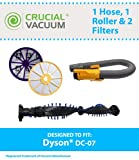 dc 14 dyson hose - Replacement for Dyson DC07 Pre & Post Filters, Yellow Hose & Clutch Roller, Compatible With Part # 904125-14, 904174-01 & 901420-02, by Think Crucial