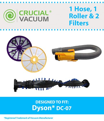 Dyson DC07 Silver/Yellow Hose, Clutch Roller,
