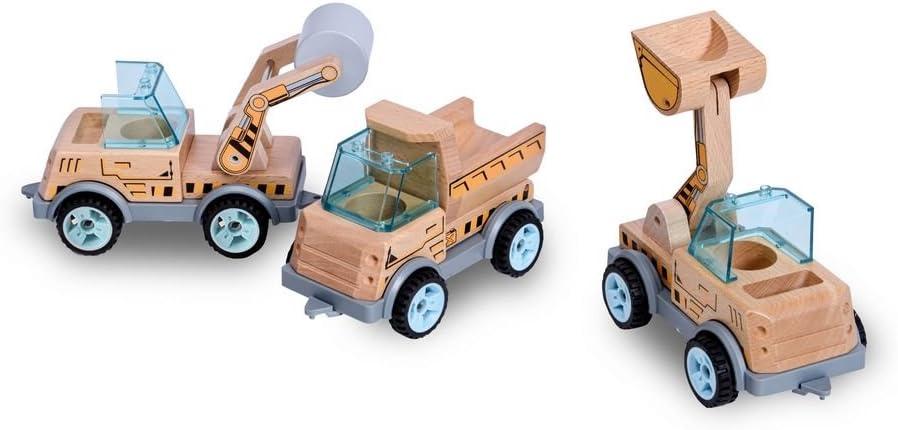 Multi Color BS Toys GA315 Contruction Car Roller