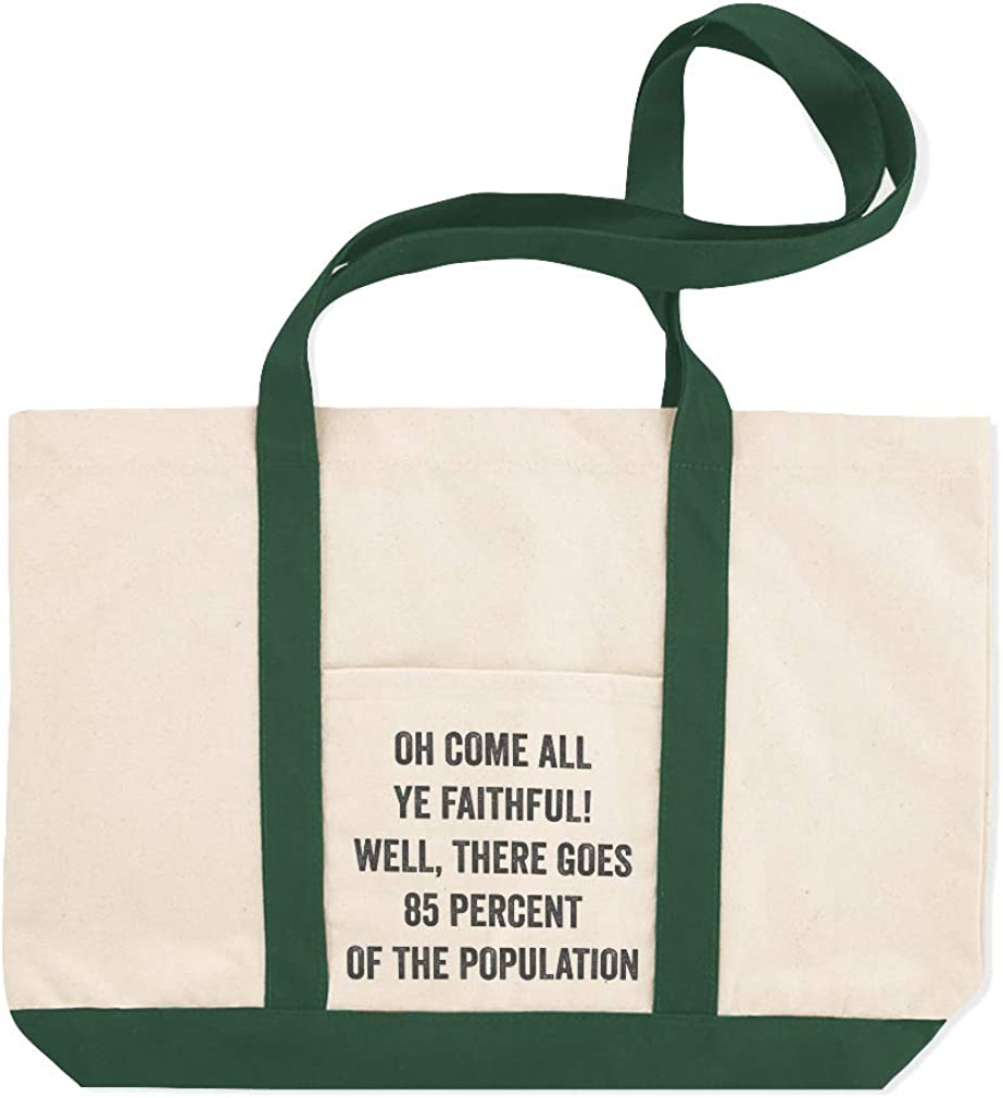 Canvas Shopping Tote Bag All Goes 85 Percent of The Population Holidays and Occasions Christmas Song