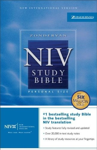 NIV Study Bible, Personal Size, Paperback, Red Letter Edition