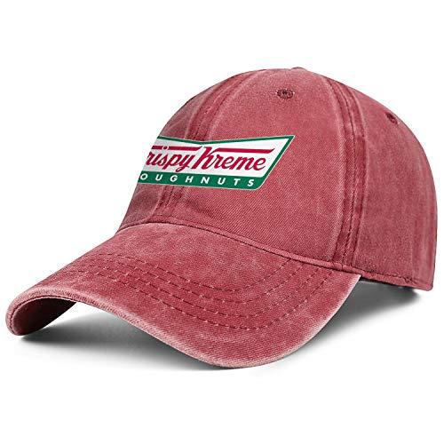 Bombline Mens Womens Krispy-Kreme- Adjustable Retro Golf Hats Baseball Washed Dad Hat Cap