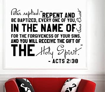 Amazoncom Wall Decals Quotes Bible Verse Psalm Acts Peter - Wall decals quotes bible