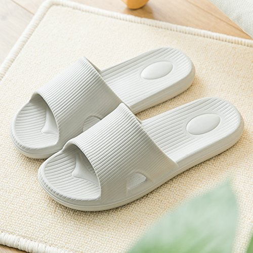 Bath Couples 43 Gray Female Interior for Slippers Slippers Light Slippers Indoor 44 Anti Slip Slippers Bathroom Male Home Women fankou Summer Home Cool zqwBHxUa
