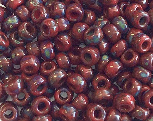 6/0 Japanese Seed Beads Picasso Dk Red Miyuki-15grams Spacer Beads and Roll Crystal String for Bracelets Jewelry Making