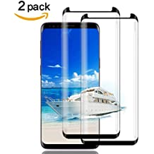 "Galaxy S9 Plus Screen Protector Glass, (2-PACK-BLACK)3D Curved Dot Matrix Full Screen Samsung Galaxy S9 PLUS Tempered Glass Screen Protector (6.2"")2018 with Easy Application (NOT S9)(Case Friendly)"
