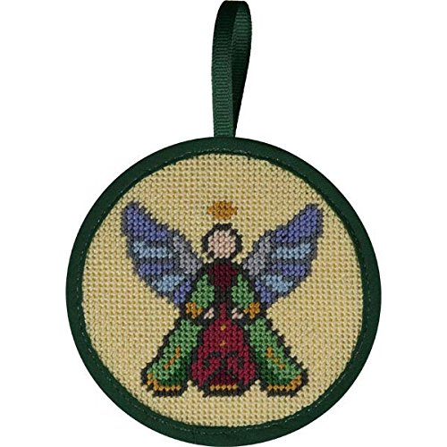 Alice Peterson Stitch-Ups Needlepoint Ornament Kit- Stained Glass Angel