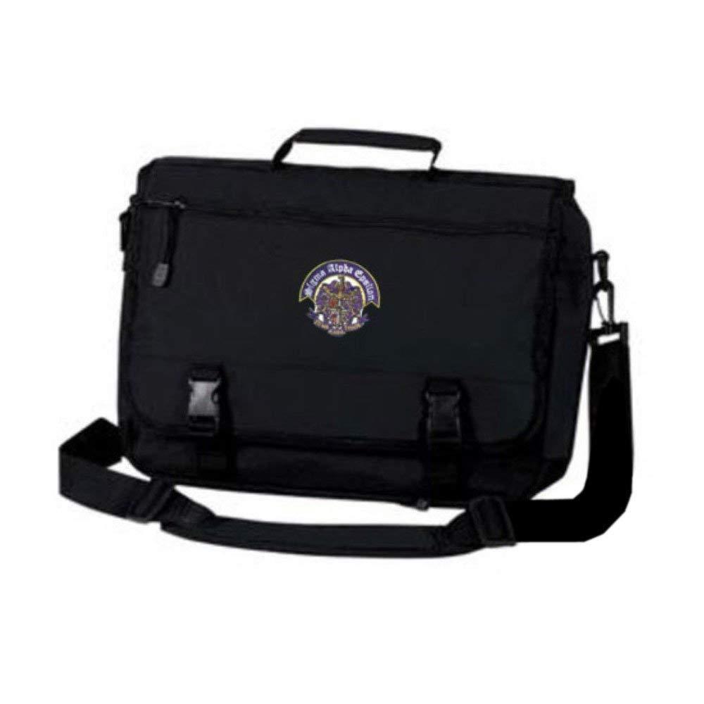 Greekgear Sigma Alpha Epsilon SAE Emblem Briefcase Black