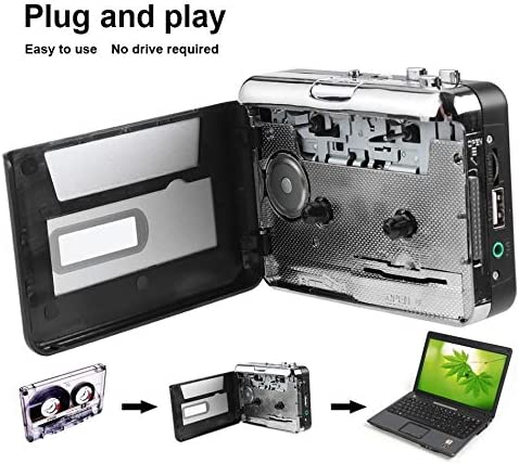 New Cassette Player USB Walkman Cassette Tape Music Audio to MP3 Converter Player Save MP3 File to USB Flash//USB Drive