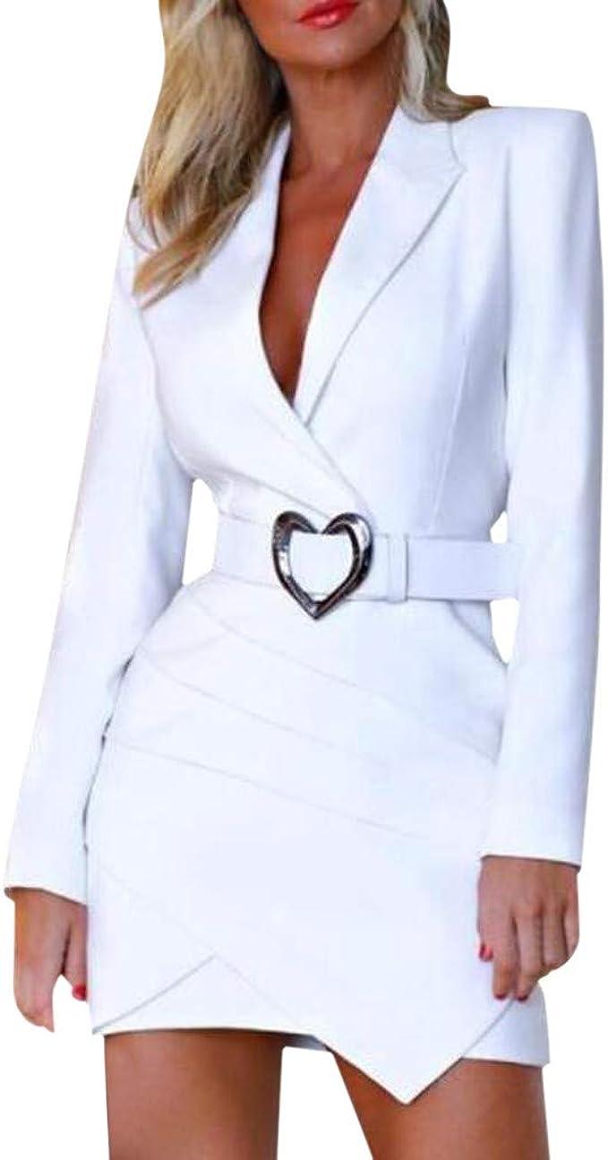 Dress jacket women Long sleeve dresses for women Midi button front Collar Dress TAVROVSKA Blue blazer tuxedo dress