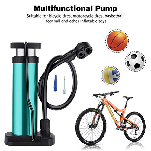Bike Pump Portable Bike Floor Pump Bicycle Ergonomic Air Pump Bike Tire Pump Universal Presta Schrader for Free Needle