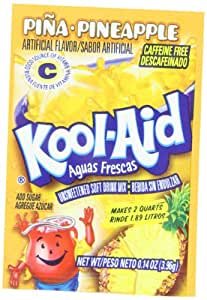 Kool-Aid Aguas Frescas Pina Pineapple Unsweetened Soft Drink Mix, 0.14-Ounce Packets (Pack of 96)