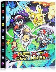 Pokemon verzamelalbum, Guboom Pokemon kaarten album Pokemon-kaarthouder, verzamelalbum compatibel met Pokemon GX EX trainer, 30 pagina's met 240 kaarten capaciteit (F)